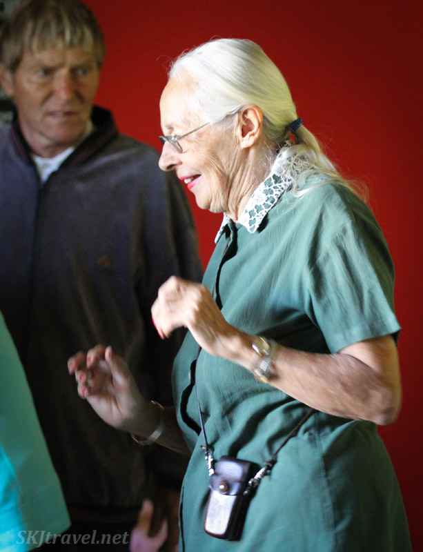 Dancing with Alzheimer's patients at the ADN care farm near Swapkopmund, Namibia.