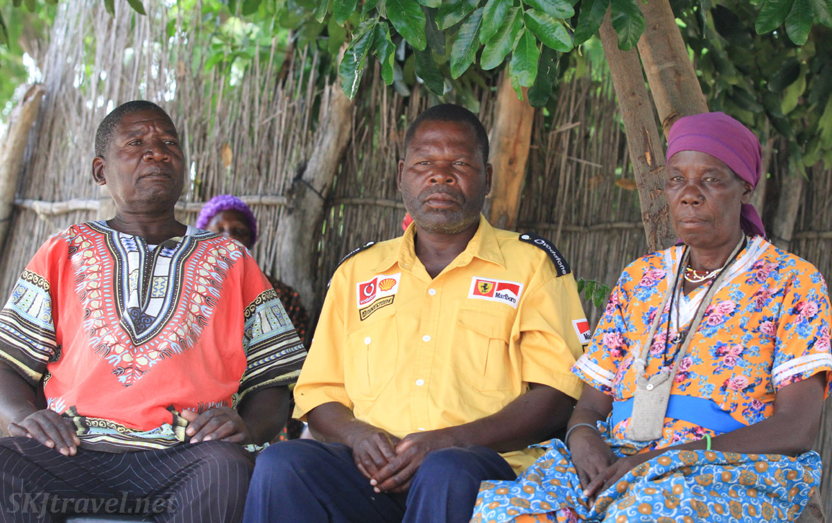 Chief Joseph, Johannes, Josephine - siblings of Kangungu Ndara, Kake Village, Kavango East, Namibia.