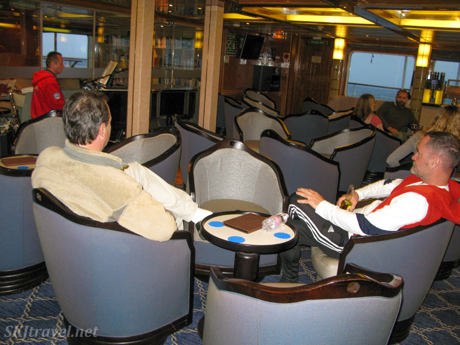 Bar lounge on the M/V Sea Spirit.
