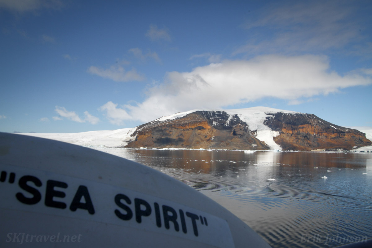 The m/v Sea Spirit at Brown Bluff, Trinity Peninsula, Antarctica.