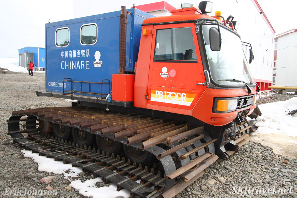 Snowcat PB170DR at China Great Wall Station research station South Shetland Islands.