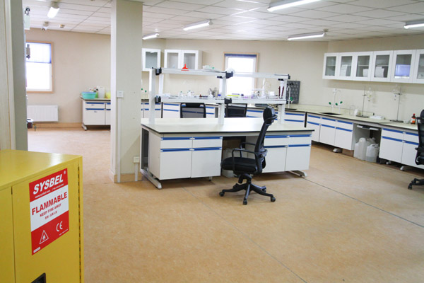 Research equipment room at China Great Wall Station, South Shetland Islands.