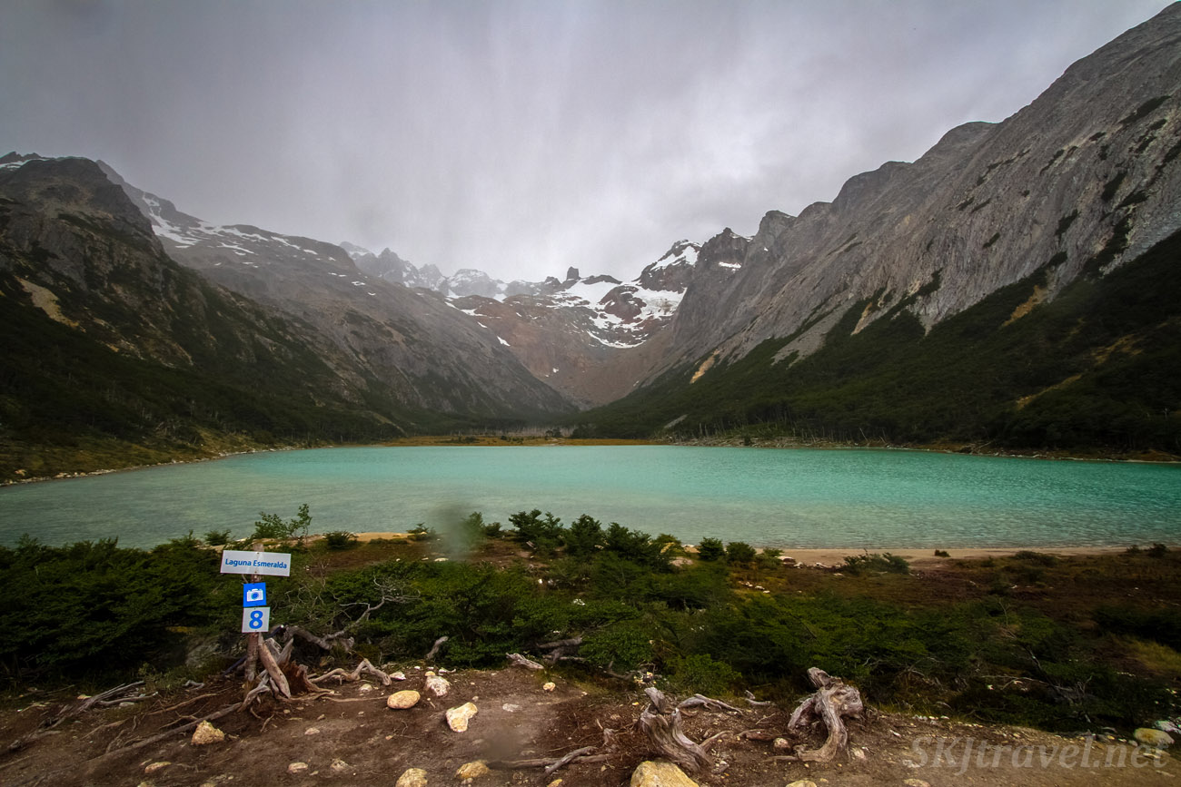 Lake Esmeralda, just as a rain storm begins. Near Ushuaia, Argentina.