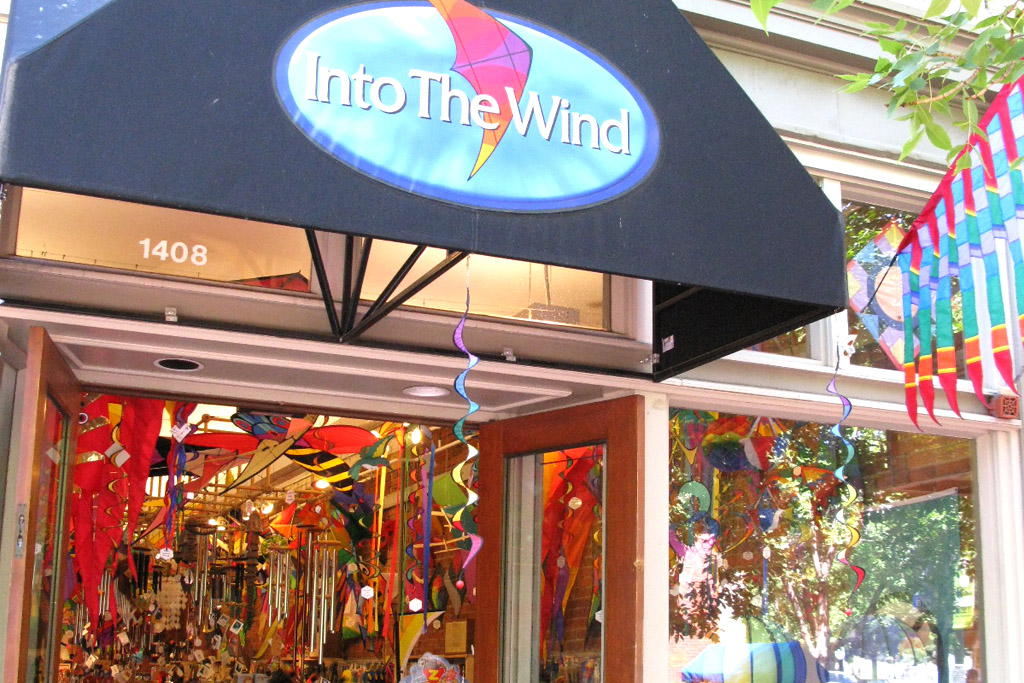 Into the Wind Kite Store on Pearl Street Mall, Boulder, Colorado.