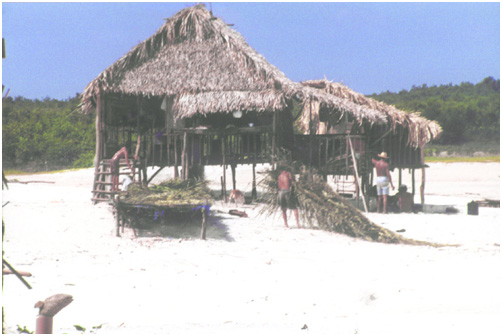 Traditional islanders, Ilha do Buraco, Brazil.