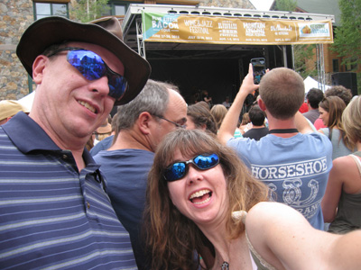 Selfie at the Keystone Beer and Bluegrass festival, River Run Village.