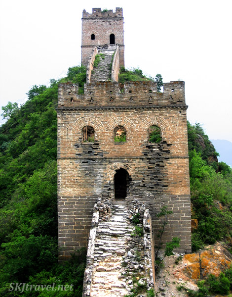 Watch towers becoming increasingly inaccessable along the Great Wall. China.