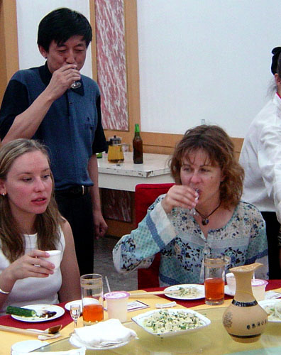 Down the hatch! Drinking shots with government officials in Yulin City, China.
