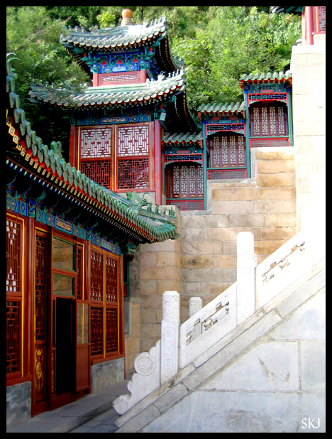 "Discovering a new area, newly ""restored,"" within the Summer Palace. China."