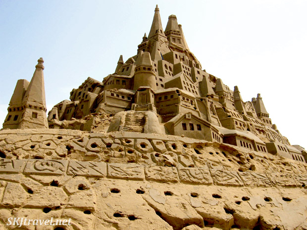 huge elaborate sand castle