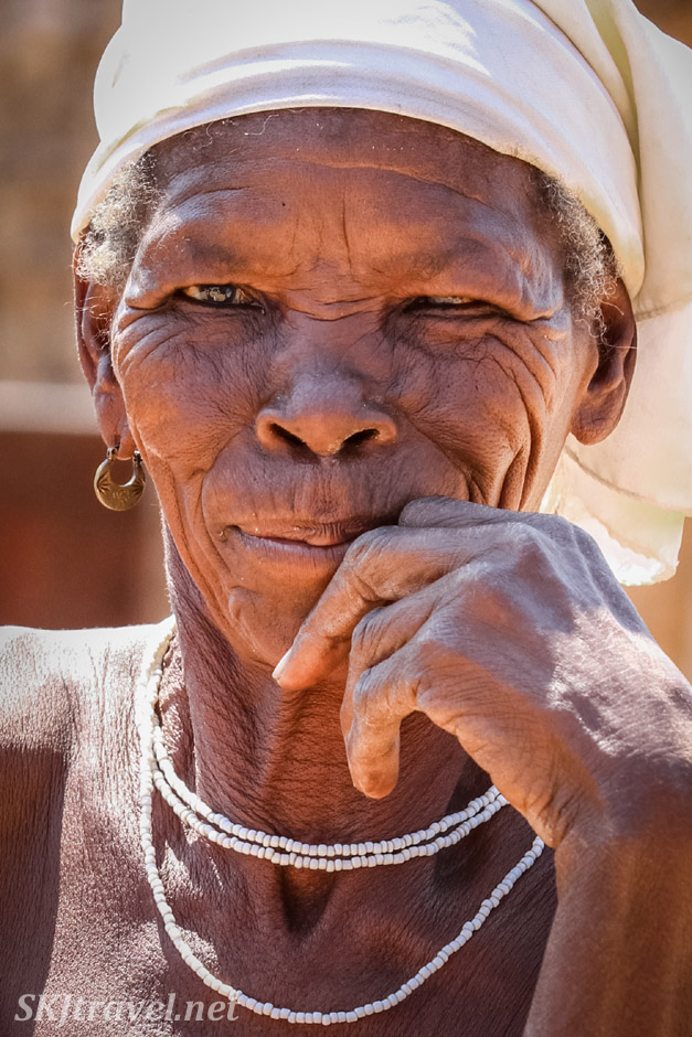 Granny Sabina's daughter, near Divundu, Kavango region of Namibia.