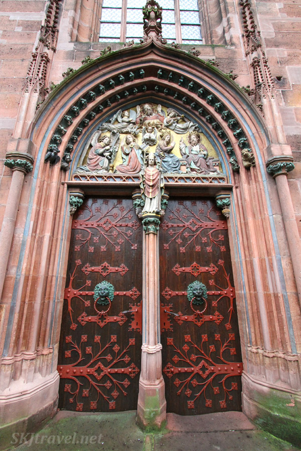 Door to a church whose name I don't know. Outside Frankfurt, Germany.