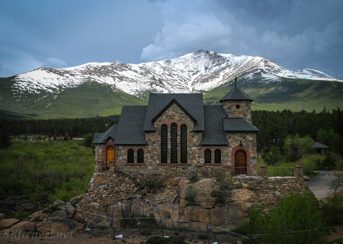 Saint Catherine of Siena Chapel, aka Chapel on the Rock, at Camp St. Malo, Allenspark, Colorado.