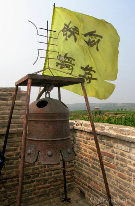 Rusting bell in the small village temple near Dang Jia Shan village.