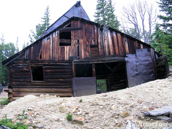 Old mining shaft house along a 4x4 route to Gamble Gulch. Outside Rollinsville, Colorado.
