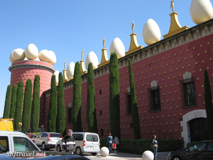Outside of the Dali Theater and Museum in Figueres, Spain.