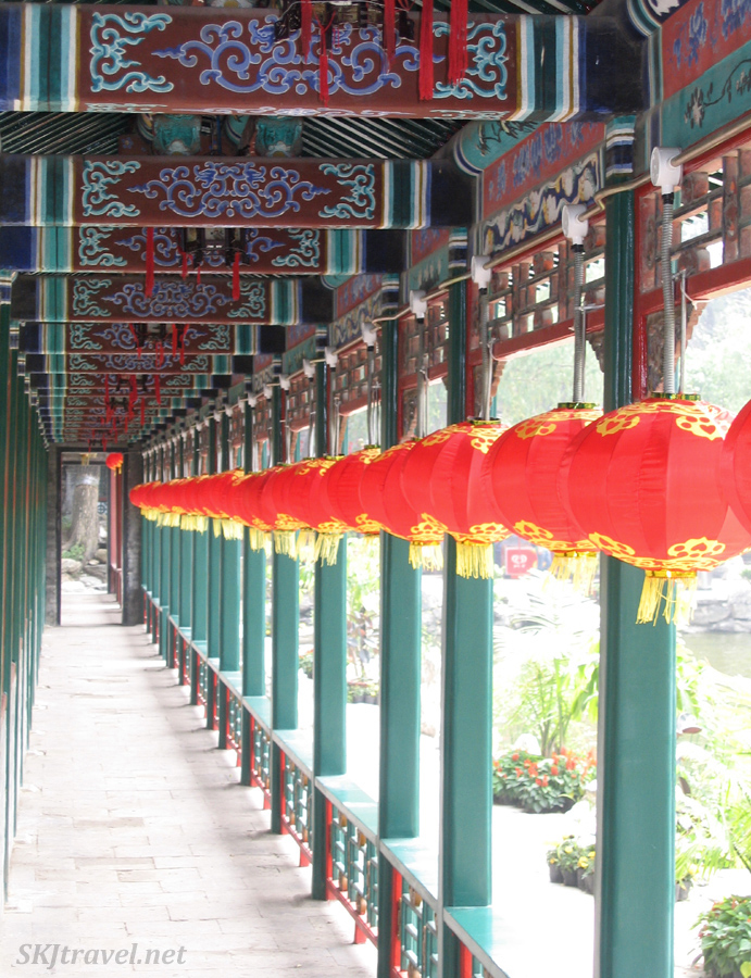 Corridor lined with Chinese lanterns, Prince Gong's Mansion, Beijing.