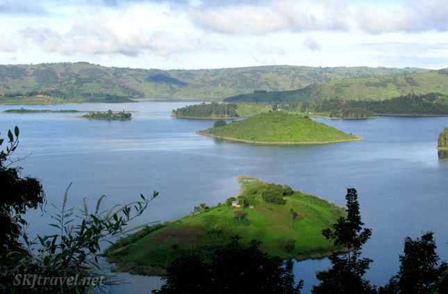 Lake Bunyoni, Uganda ... dotted with numerous tiny islands.