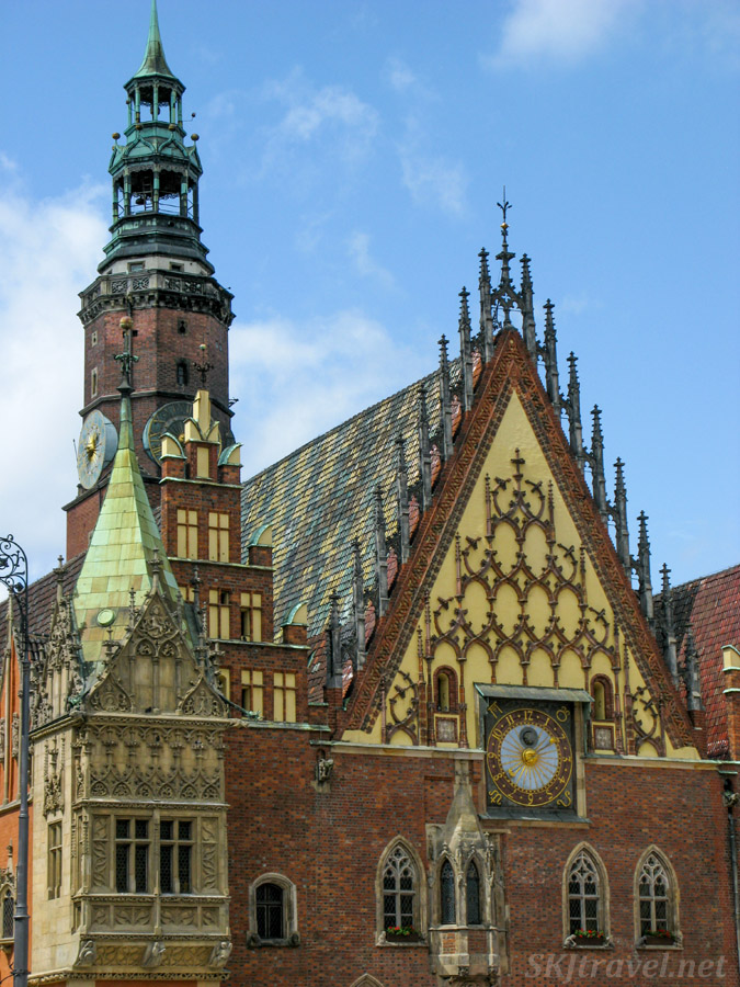 Exterior of town hall, Wroclaw, Poland.