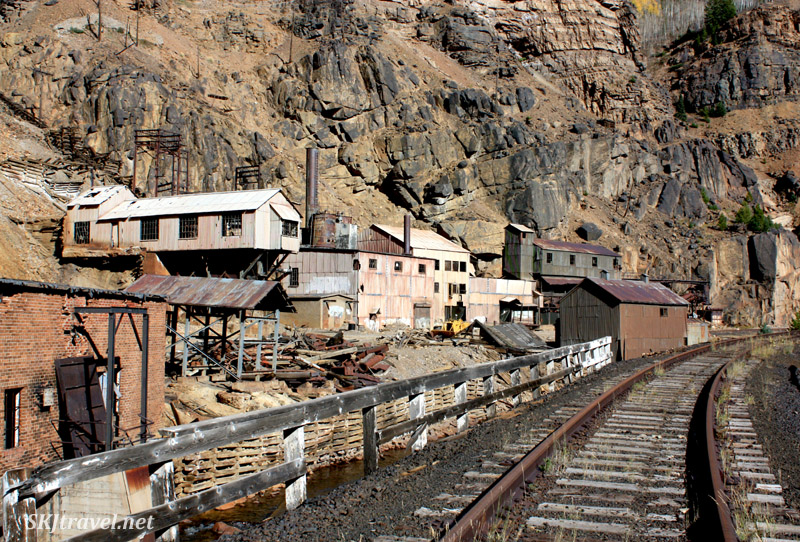 Abandoned train station in the valley below Gilman, Colorado.