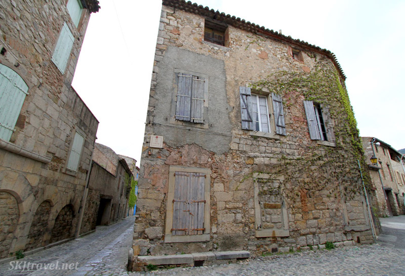 Empty streets of Lagrasse, France.