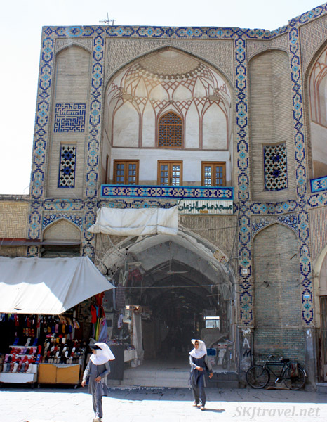 Entrance to the bazaar from the Imam Square, Isfahan, Iran.