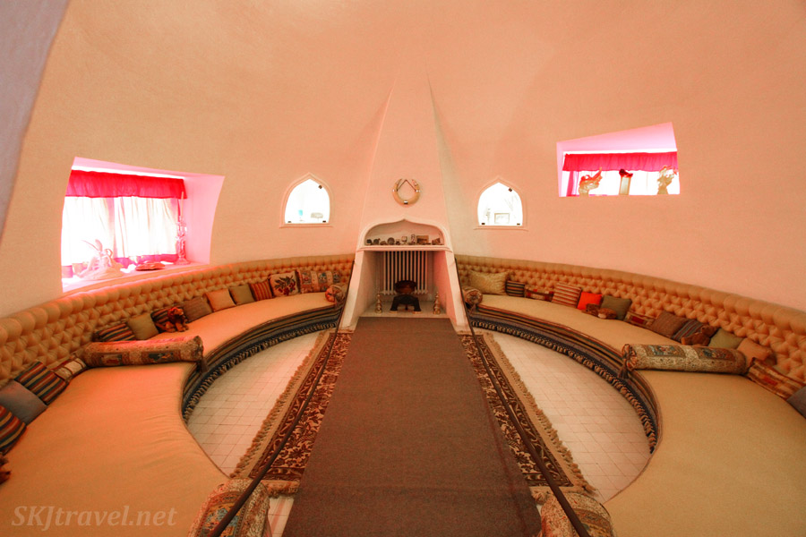 Interior of the Dali house museum in Portlligat, Spain. Captured with wide-angle lens.