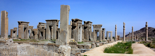 The Palace of Darius (or Tachara), Persepolis, Iran.