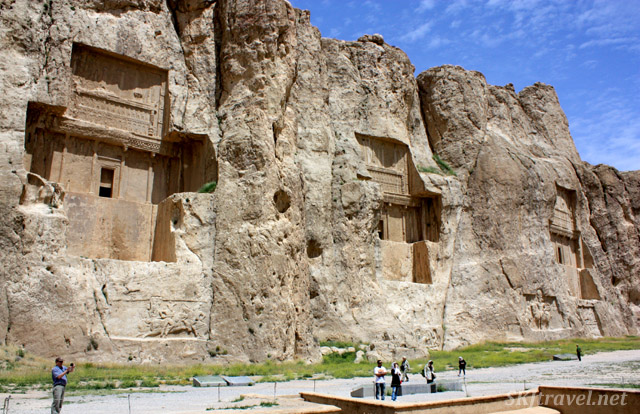 Royal tombs of the Achaemenid kings of Persepolis. Iran.
