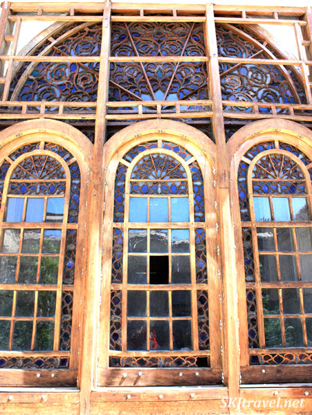 Pretty windows at water musuem, Yazd, Iran.
