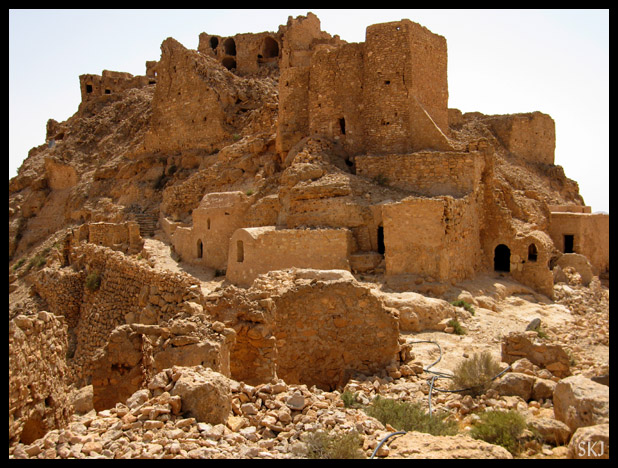 Abandoned Berber ksar village of Douiret, Tunisia.