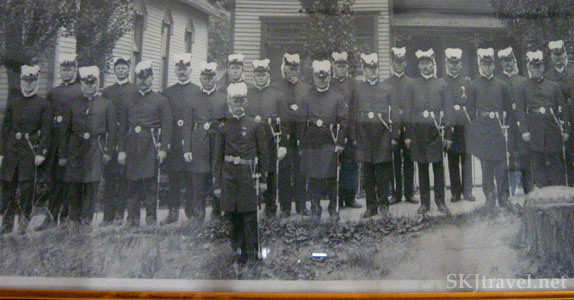 Old photo of members of Masonic temple in Glenwood Springs, Colorado.