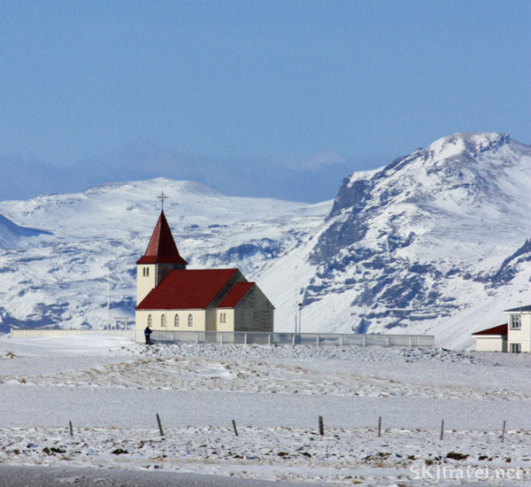church in field of snow