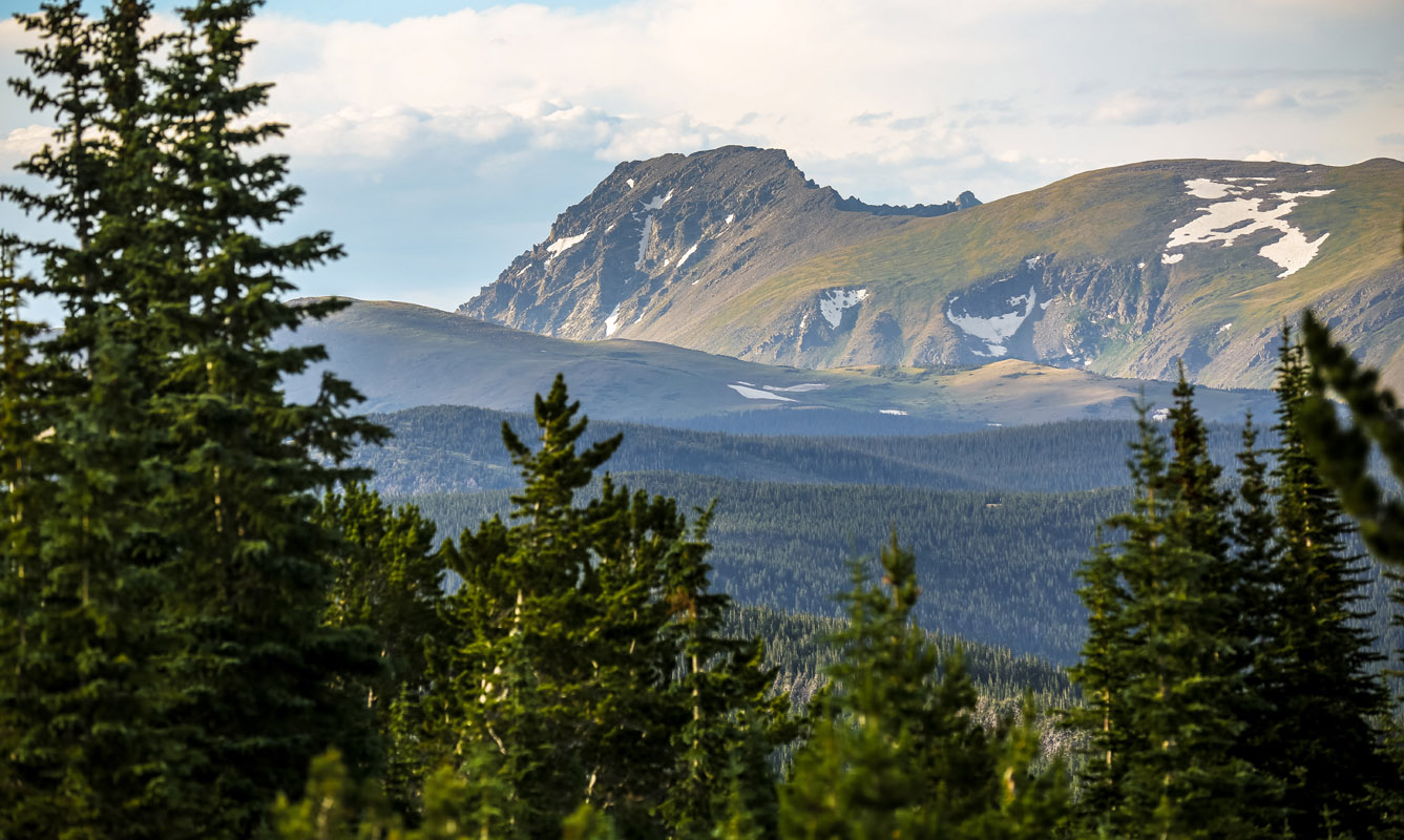 View from Mammoth Gulch to Arapahoe Peak, Indian Peaks Wilderness, Colorado.