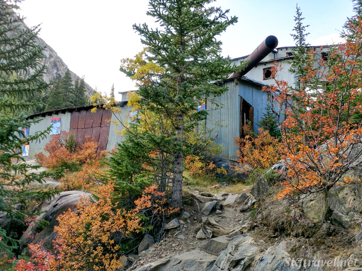 Old abandoned Magnolia Mill above Montgomery Reservoir, near Breckenridge, Colorado. in autumn.