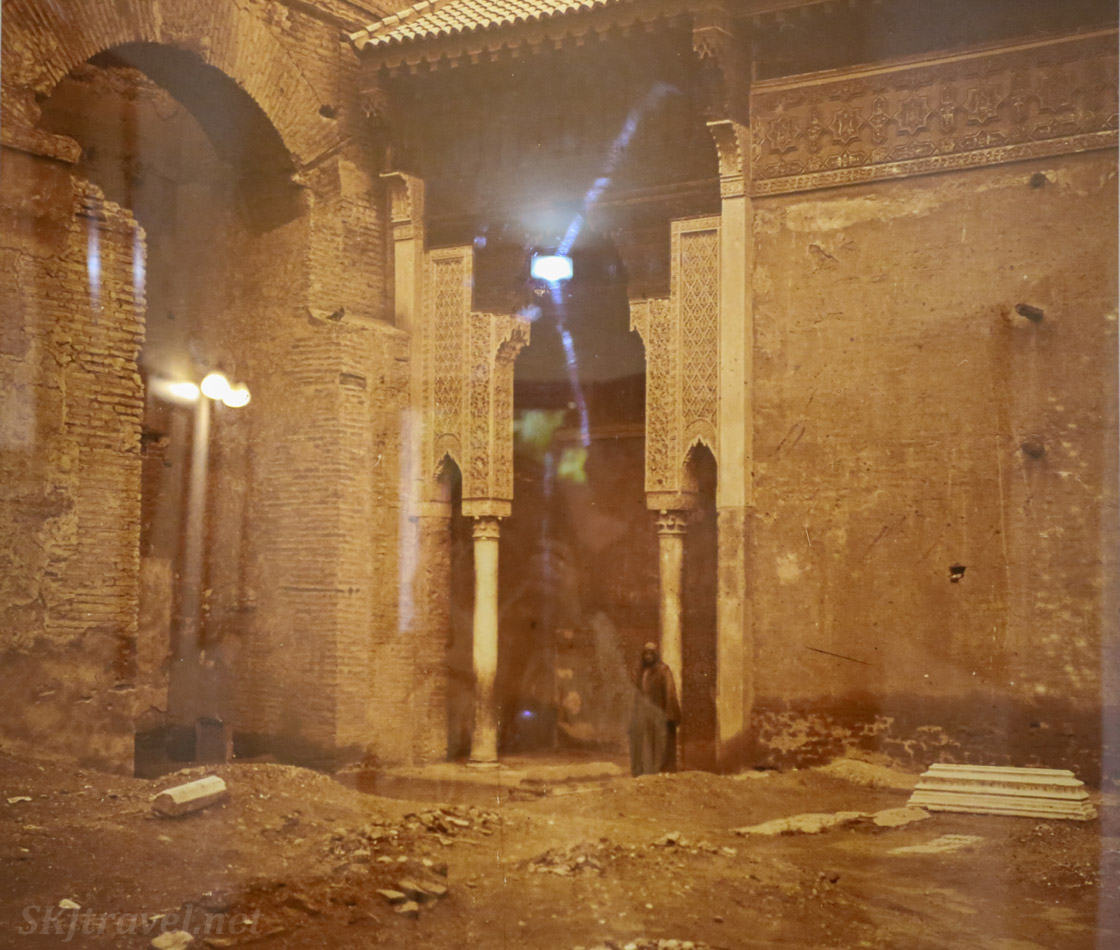Saadian tombs in ruins 1917, Marrakech, Morocco.