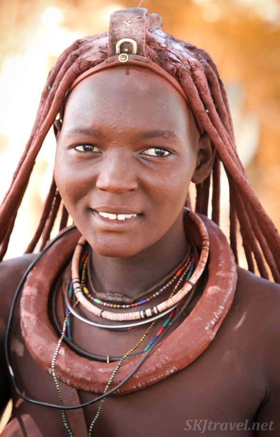 A candid Princess Kaviruru, Himba village, northern Namibia.