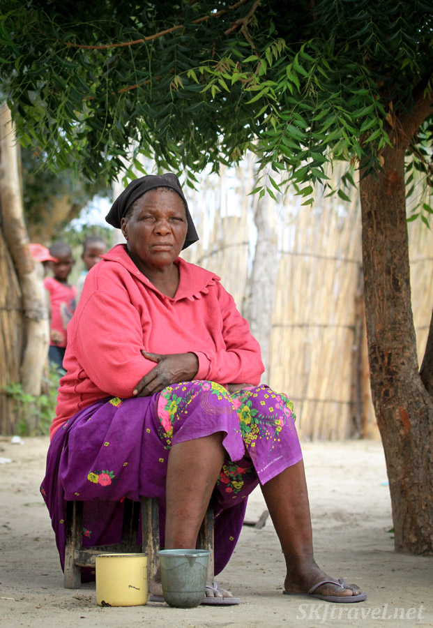 Kavango woman, northern Namibia.
