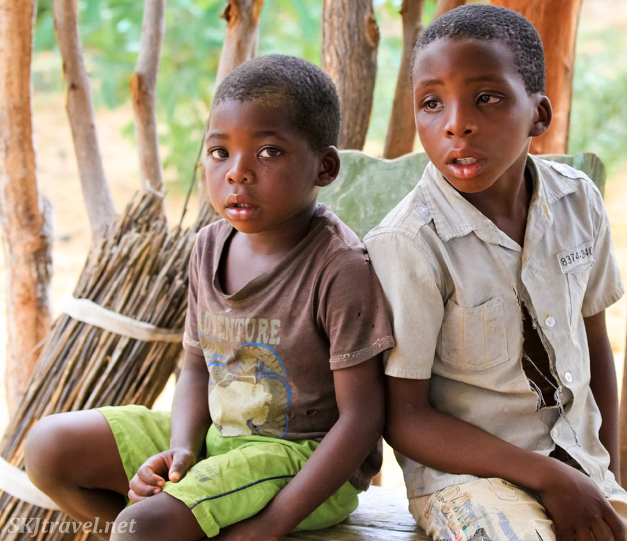 Kids in the Kavango region of northern Namibia.