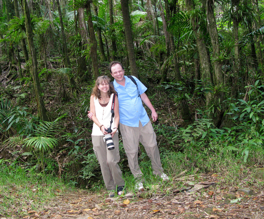 Shara and Erik in the El Yunque National Park rain forest, Puerto Rico.