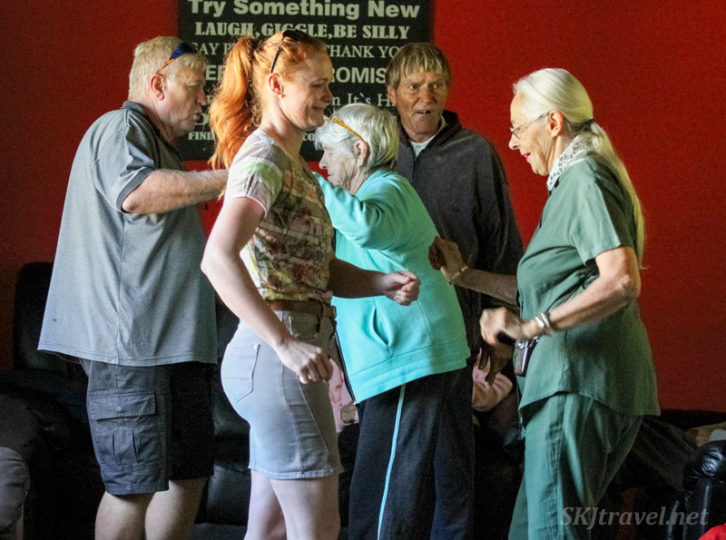 dancing with Alzheimer's patients