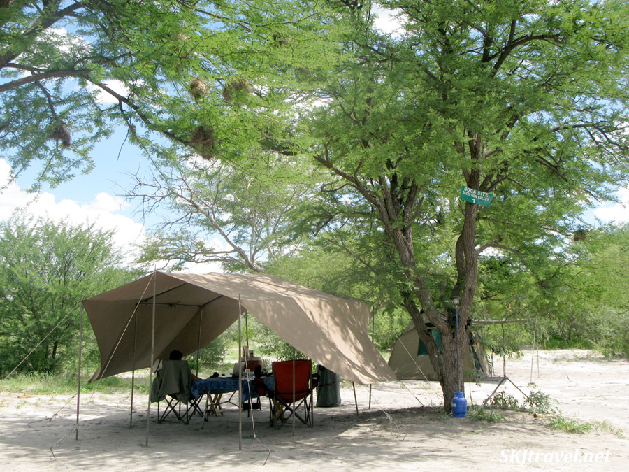 Our camp in the Central Kalahari Game Reserve with Ulinda Safaris.