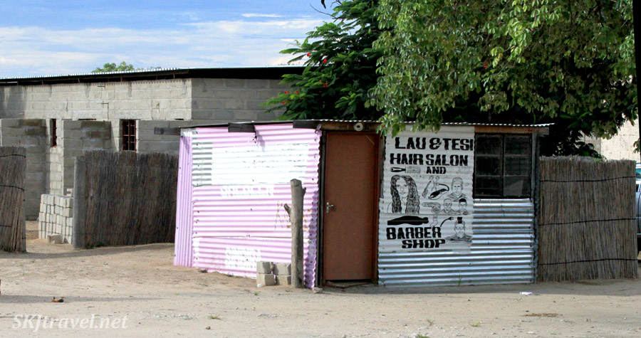 Hair salon and barber shop along the roadside, northern Namibia.
