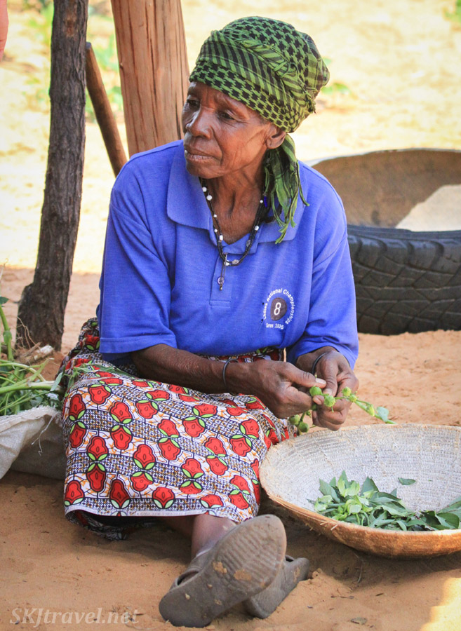 Elderly Kavango woman, northern Namibia.
