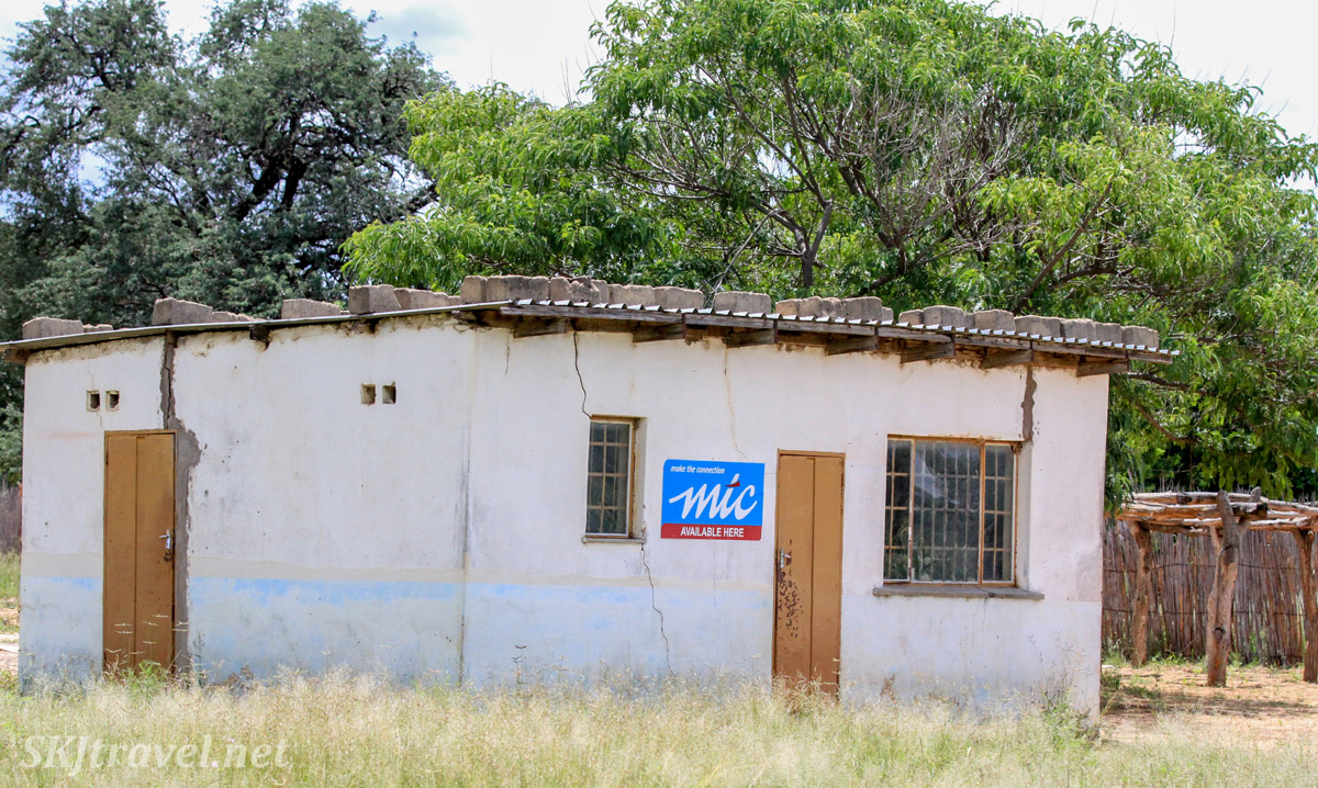 Kangungu Ndara's tailor shop, now abandoned after his murder. Kake Village, Kavango East, Namibia.
