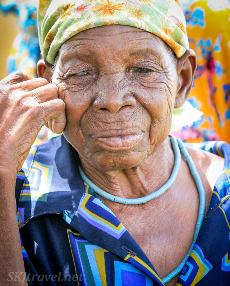 Wife of Kangungu Ndara. Kake Village, Kavango East, Namibia.