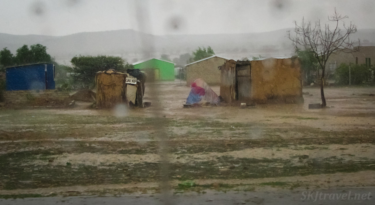 Car wash in the rain, northern Namibia.