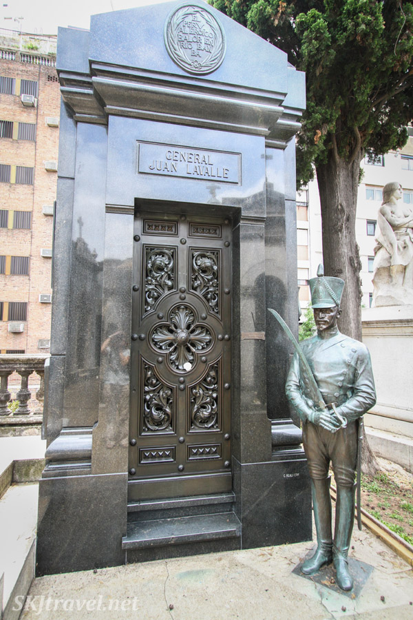 Tomb of General Juan Lavalle, Recoleta Cemetery, Buenos Aires, Argentina.