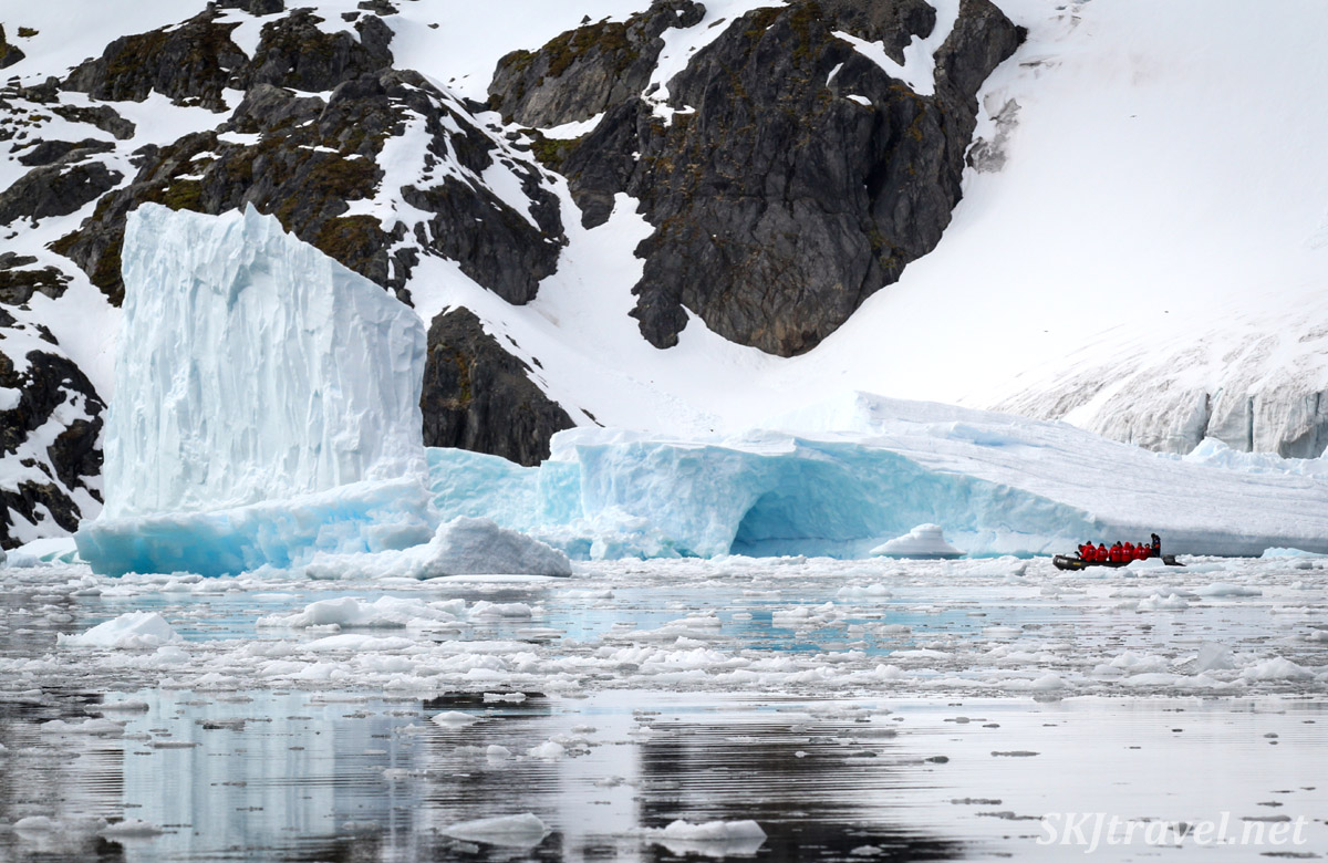 Zodiac cruise through Cierva Cove in the Antarctica Peninsula with Poseidon Expeditions.