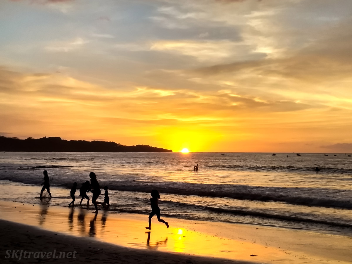 Sunset at Tamarindo Beach, Costa Rica.